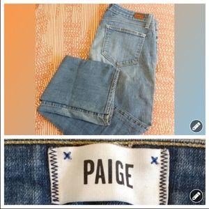 Paige light medium wash skyline straight jeans